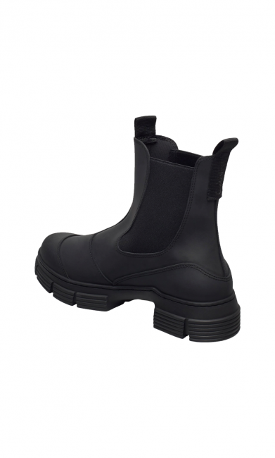 GANNI S1526 City Boot gummistøvle SORT-31