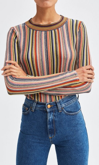 RODEBJER Vala bluse multi colour-31