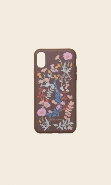 Stine GOYA Molly iPhone X Cover Flowers Mocha-31