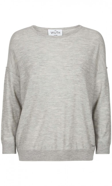WUTH Oversize pullover grå-31