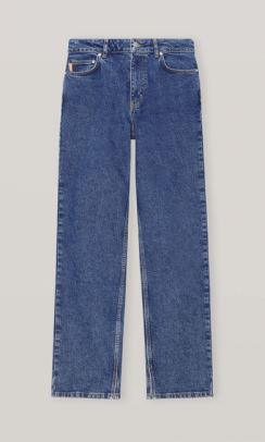 GANNI F5792 High-Waisted Relaxed Fit jeans blå-20