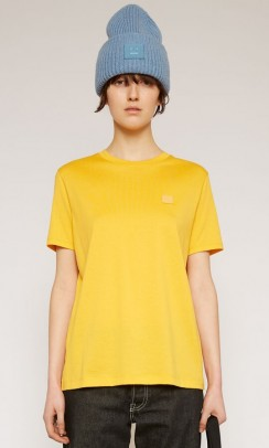 Acne Studios Ellison Face t-shirt - gul