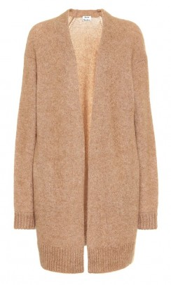 ACNE STUDIOS Raya short mohair cardigan caramel brown-20