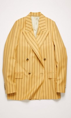 ACNE STUDIOS Double-breasted pinstripe blazer gul-20