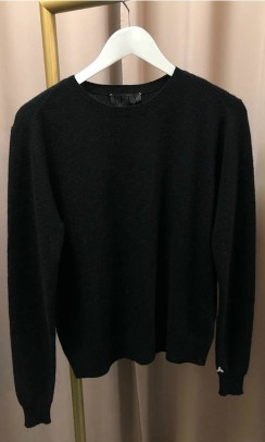 BETA STUDIOS O-neck Basic Cashmere sort-20