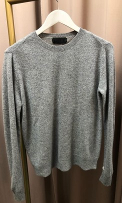 BETA STUDIOS O-neck Basic Cashmere grå-20