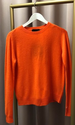 BETA STUDIOS O-neck Basic Cashmere neon orange-20