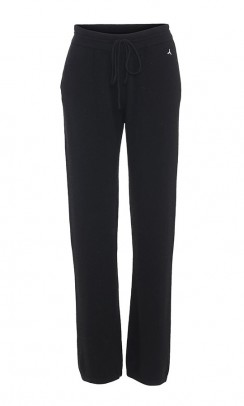 BETA STUDIOS Pant straight fit cashmere sort-20