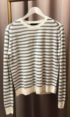 BETA STUDIOS O-neck striped cashmere striber-20