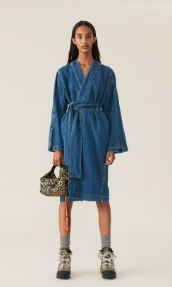 Denim-wrap-dress