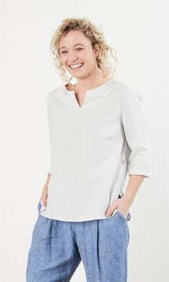 Emma blouse, Linen By Krebs