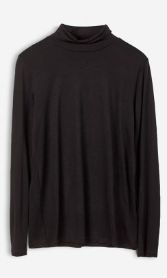 FILIPPA K Tencel polo neck bluse sort-20