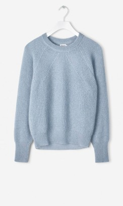 FILIPPA K Mohair R-neck sweater blå-20