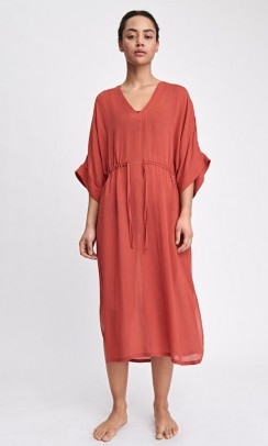 FILIPPA K Drawstring Beach kaftan rød/orange-20