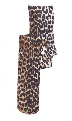 GANNI Recycled printed stockings leopard-20