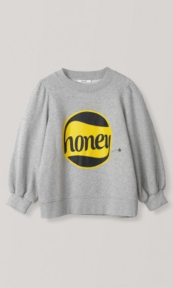 GANNI Lott Isoli Puff sweatshirt honey grå-20