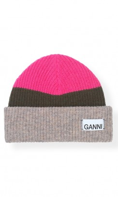 GANNI Knit hat multicolour-20