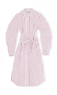 GANNI F4537 Dress striped cotton