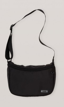 GANNI A2726 Tech fabric shoulder bag