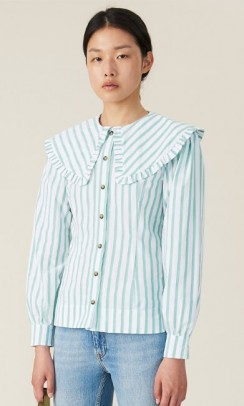 Ganni feathery cotton shirt