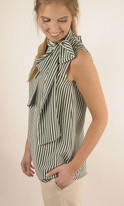 JOSEPH Deck Chair Stripe silk noon top-20