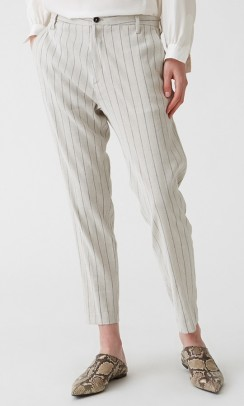 HOPE Krissy trouser grey stripe-20