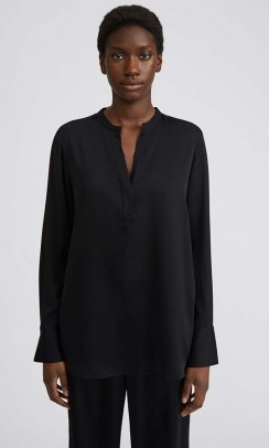 FILIPPA K Pull-On Silk bluse sort-20
