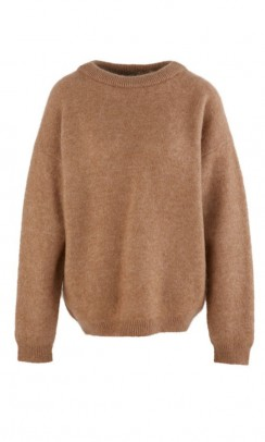 ACNE STUDIOS Dramatic Mohair strik caramel brown-20