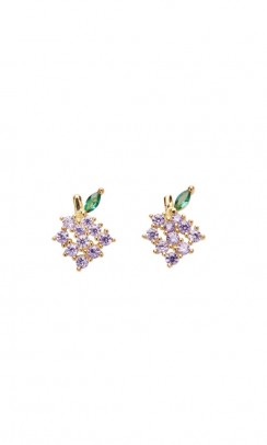 PICO Grapes Crystal Stud