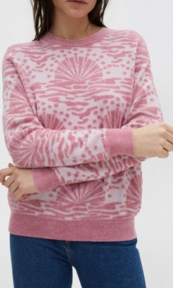 RODEBJER Sitwell Sunrise bluse rosa print-20