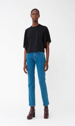 SEE BY CHLOE Pleated T-Shirt Sort-20