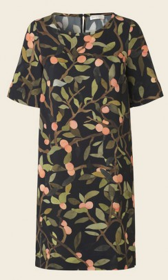 stine GOYA Lee Peach Tree Viscose kjole sort-20