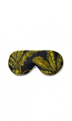 FAN PALM Sleeping Eye Mask - tropical black