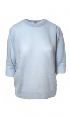 BETA STUDIOS Lady Sleeve O-Neck light blue-20