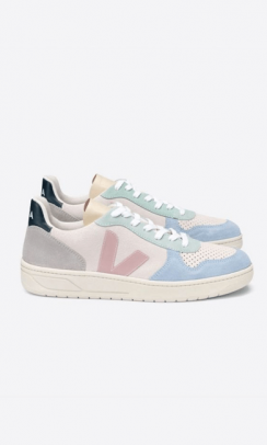 VEJA Sneakers V-10 Suede Multico Natural Babe Multi-20