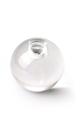 HK LIVING Crystal Glass Candle Ball Clear-20