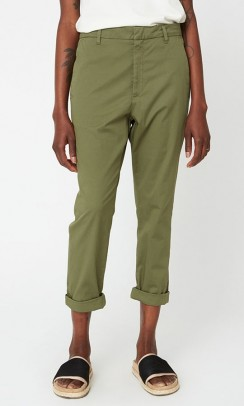 HOPE News Trouser Khaki Green-20