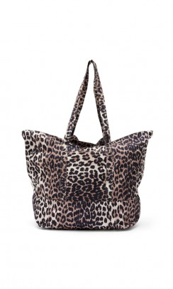 GANNI Fairmont Shopper Leopard-20