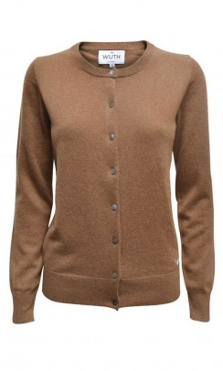 WUTH CASHMERE Classic Cardigan mocca-20