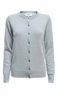 WUTH CASHMERE Classic Cardigan ice blue-20