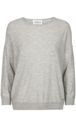 WUTH Oversize pullover grå-20